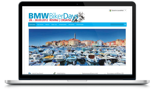 Screenshot www.bmw-bikerdays.info