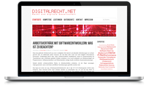 Screenshot www.digitalrecht.net